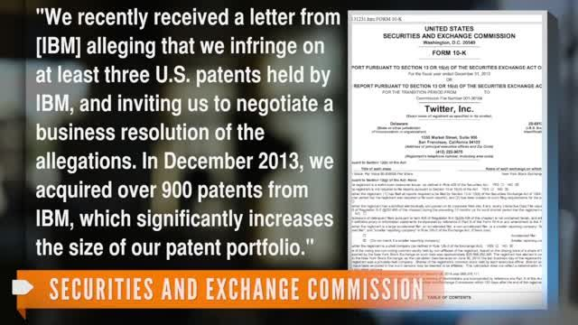 News video: Twitter Purchased 900 Patents From IBM To Avoid Lawsuit