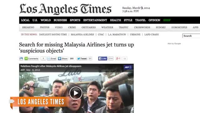 News video: 'Suspicious Objects' Not From Missing Plane: Officials