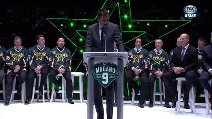 News video: NHLers celebrate Mike Modano's jersey retirement